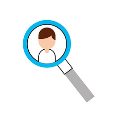 magnifying glass with businessman avatar vector image