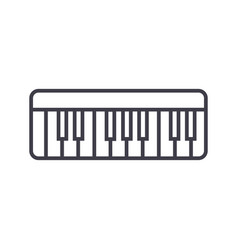 modern synthesizer line icon sig vector image