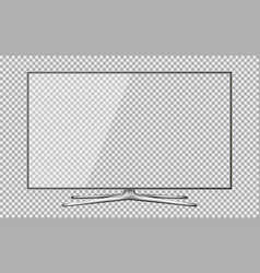 modern tv with transparent screen isolated on vector image