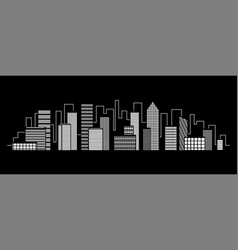 night city dark urban scape vector image