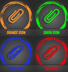 Paper clip sign icon clip symbol fashionable vector