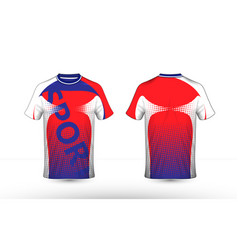 red white and blue layout e-sport t-shirt design vector image