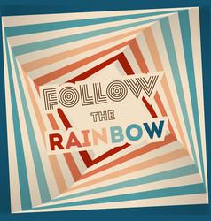 Retrowave 80s art retro rainbow vector