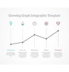 Rgowing graph infographic vector