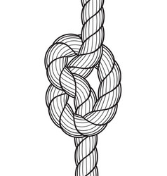 Rope knot icon vector