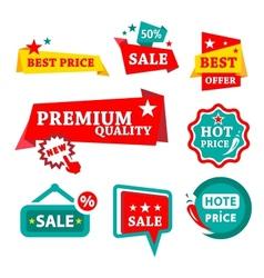 sale discount badges vector image