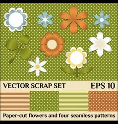 scrap set vector image vector image