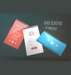 screens ui mockups vector image