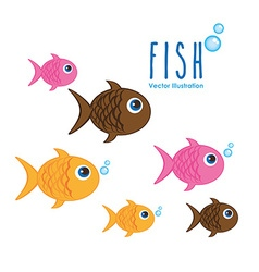 Sea animals design vector