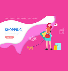 shopping website ranking visibility content vector image