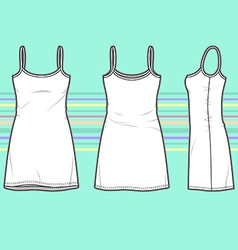 Simple dress vector