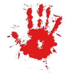 splatter hand print vector image