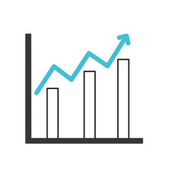 Statistics bars isolated icon vector
