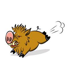 Stock wild ferocious pig vector