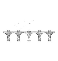 Stone bridge vector