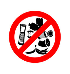stop littering ban garbage it is forbidden to vector image