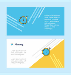 stopwatch abstract corporate business banner vector image