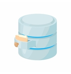 Storing files in database icon cartoon style vector