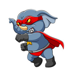 super elephant is stepping with punch vector image