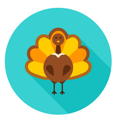 Thanksgiving turkey circle icon vector