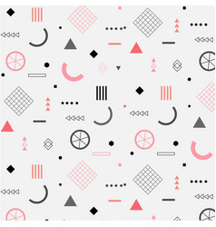 Trendy geometric elements memphis pattern vector