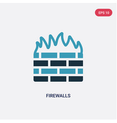 two color firewalls icon from technology concept vector image