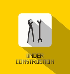 Under Construction Title vector image