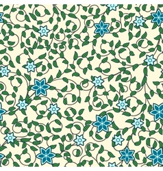 Vintage seamless pattern of weaving flowers vector image