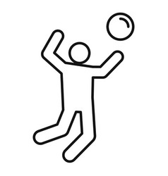 volleyball icon outline style vector image