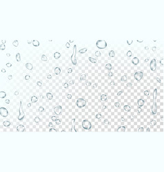 water drops background clean fresh water vector image