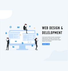web design and development poster vector image