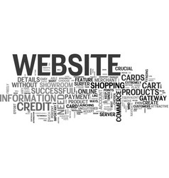 What makes a successful e commerce website text vector