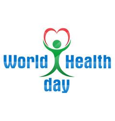 world health day logo text banner vector image