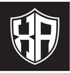 Xa logo monogram with shield shape isolated on vector