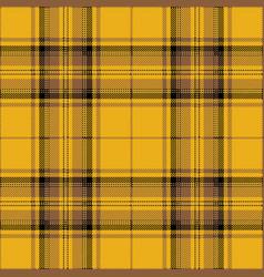 yellow and brown tartan plaid scottish pattern vector image