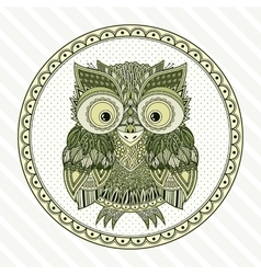 zentangle owl Ornate vector image