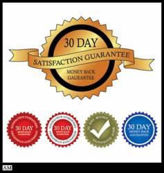 30 day money back guarantee vector image
