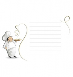 chef with note padmenu vector image vector image
