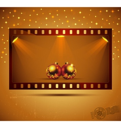 Holidays film strip vector