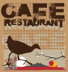 native cafe vector image