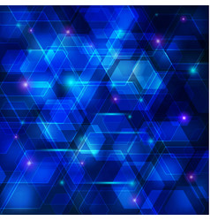 blue abstract techno background vector image