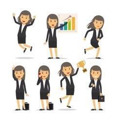 Businesswoman character vector image vector image