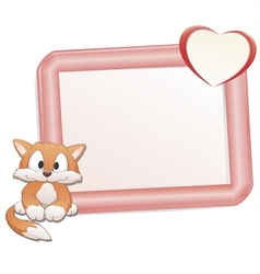 cartoon cat with frame vector image
