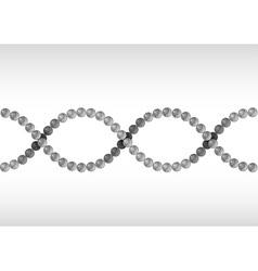 dna grey vector image vector image