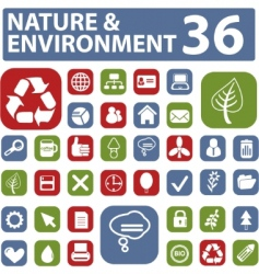 environment buttons vector image vector image