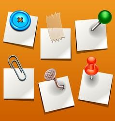 push pin various vector image vector image