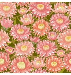 Seamless red chrysanthemum backgrounds vector image vector image