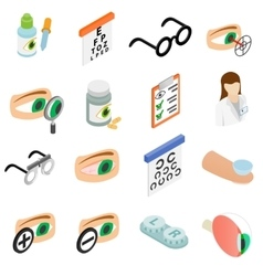 Vision correction icons set vector image
