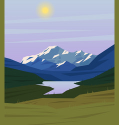 colorful drawing nature landscape background vector image