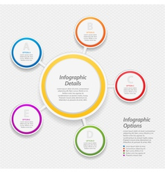 colourful infographic circle background vector image vector image